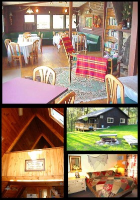 lodge and cabins on 11th crow wing lake