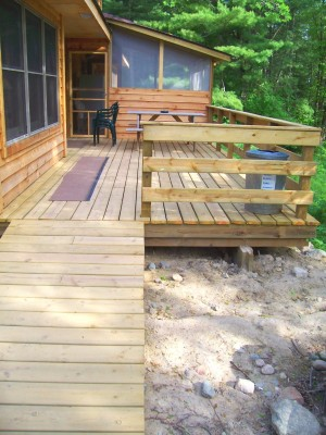 cabin 9 ramp to deck