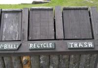 volleyball bball recycle trash center near gazebo