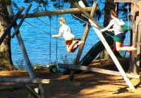 swing set at crow wing crest
