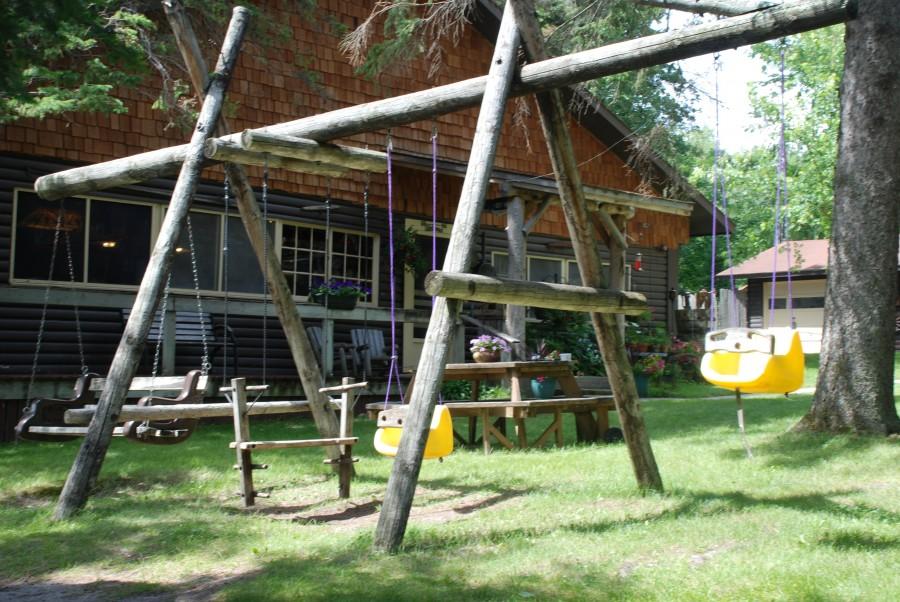 swing set near CWC Lodge