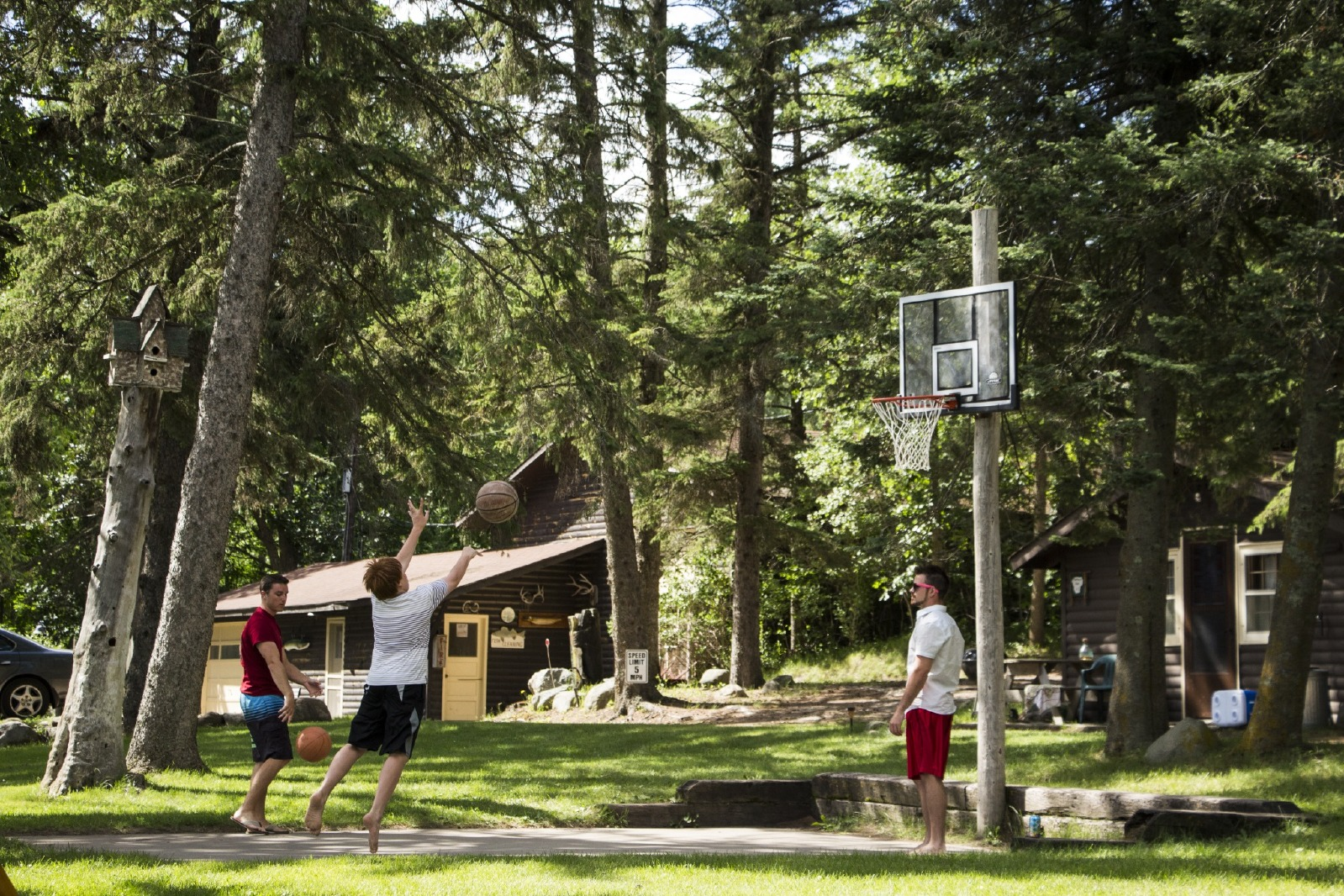 basket ball court at Crow Wing Crest Lodge