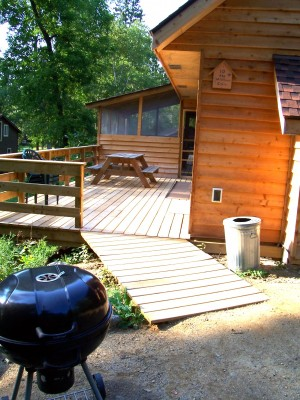 cabin 10 ramp to deck