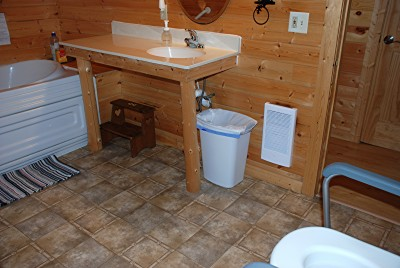 handicap sink in cabin 19