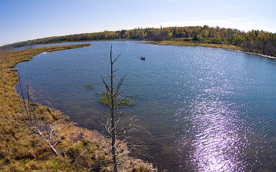 Natural Lake Lester - non-motorized, catch & release fishing strictly enforced. Photo Layne Kennedy